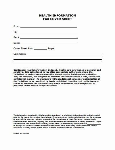 Medical Face Sheet New Fax Face Sheet Template — Rapic Design