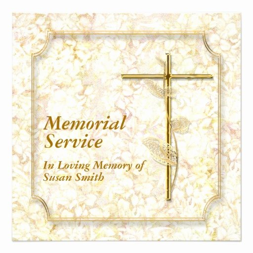 Memorial Card Template Awesome Memorial Service Invitation Announcement Memory 5 25