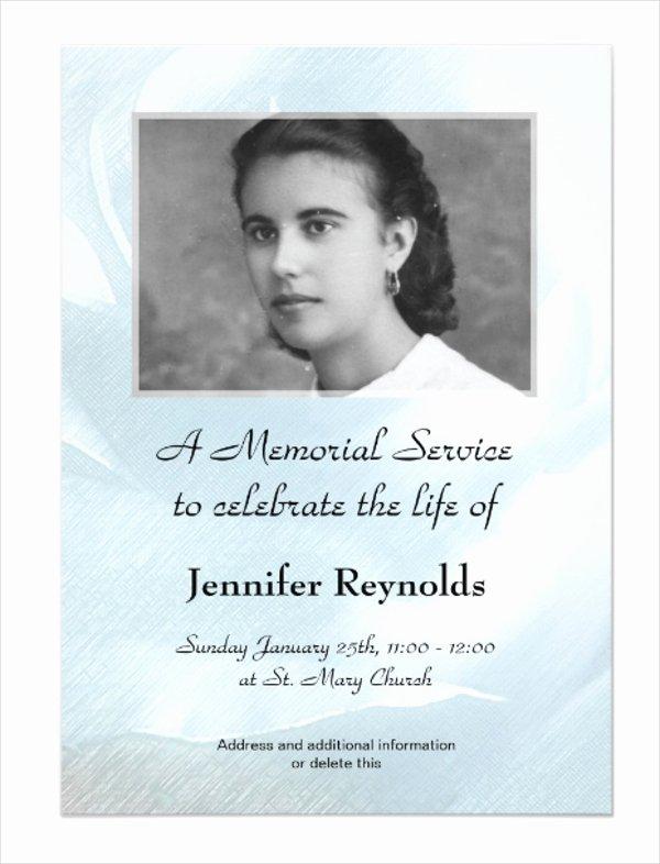 Memorial Card Template Beautiful 11 Funeral Card Templates Free Psd Ai Eps format