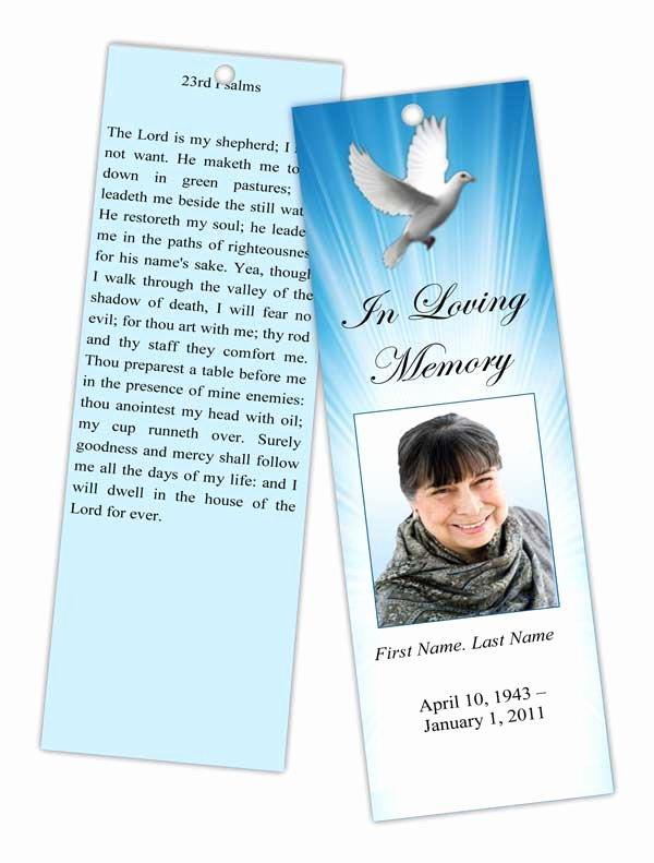 Memorial Card Template Elegant Funeral Programs and Memorial Cards Bookmarks