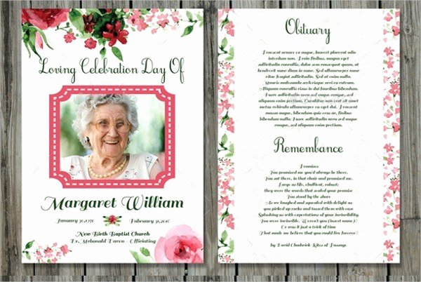 Memorial Card Template Fresh Funeral Prayer Cards Templates Free Download Aashe