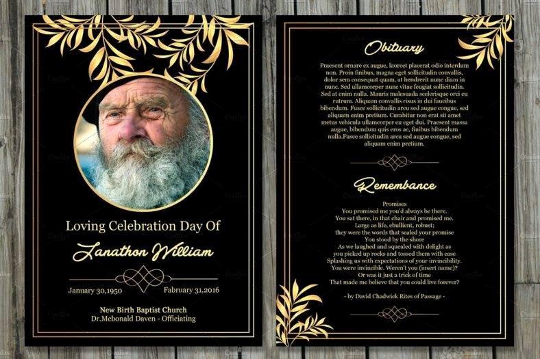 Memorial Card Template Inspirational 11 Funeral Memorial Card Designs & Templates Psd Ai