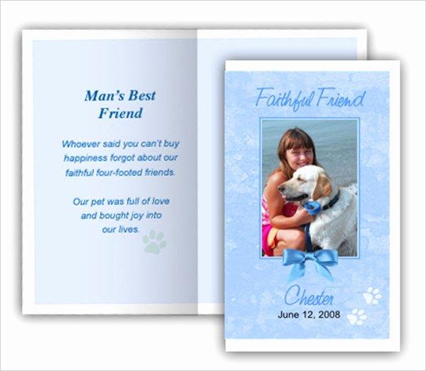 Memorial Card Template Inspirational 7 Pet Funeral Program Templates Psd Ai Eps