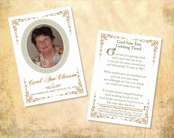 Memorial Card Template Luxury 15 Funeral Card Templates Free Psd Ai Eps format