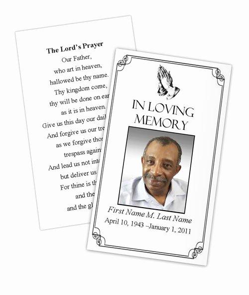 praying hands prayer card template