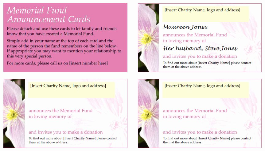 Memorial Card Template New Free Tribute Scheme Templates with All the Materials You