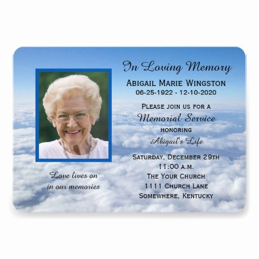 Memorial Service Invitations Templates Awesome 1 000 Memorial Service Invitations Memorial Service