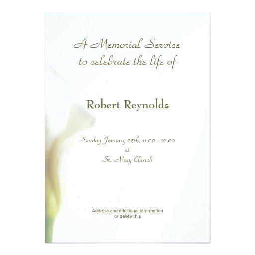 Memorial Service Invitations Templates Lovely 1 000 Memorial Service Invitations Memorial Service