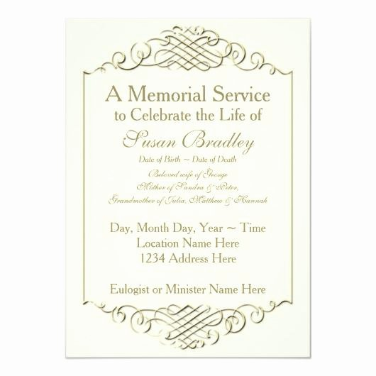 Memorial Service Invitations Templates New Rainbow 2 – Funeral Memorial Service Announcement