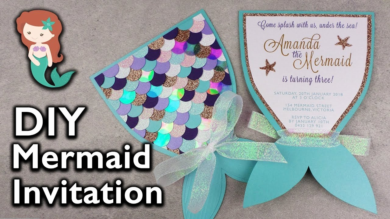 Mermaid Birthday Invitation Templates Beautiful Amazing Diy Mermaid Tail Invitation