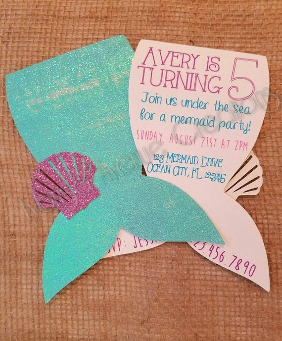 Mermaid Birthday Invitation Templates Best Of 12 Mermaid Invitations Mermaid Party Invitations Nautical