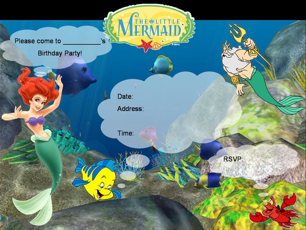 Mermaid Birthday Invitation Templates Best Of Little Mermaid Birthday Invitation Templates