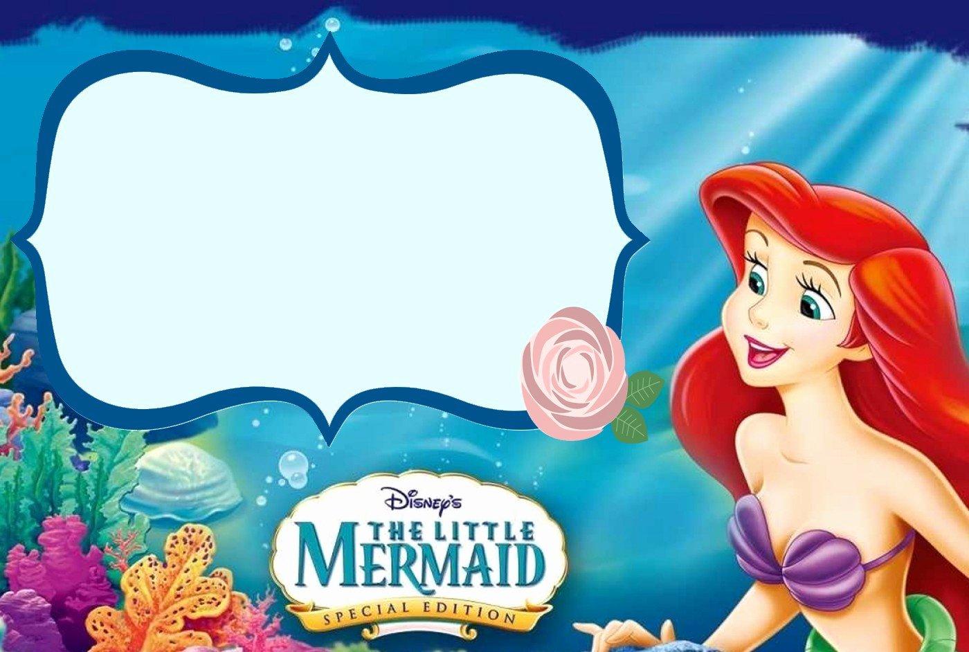 Mermaid Birthday Invitation Templates New Little Mermaid Free Printable Invitation Templates