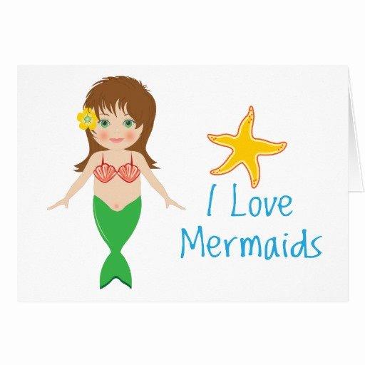 mermaid card invitation template