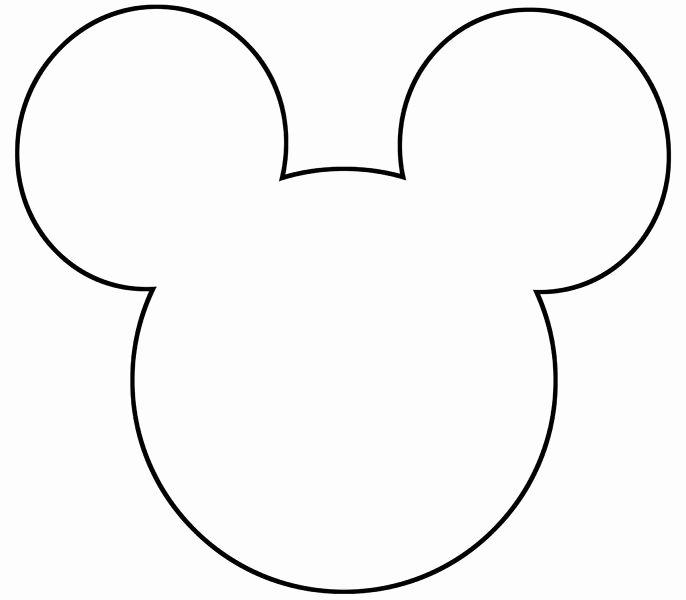 Mickey Mouse Cut Out Printable Inspirational Free Printable Mickey Mouse Silhouette Google Search