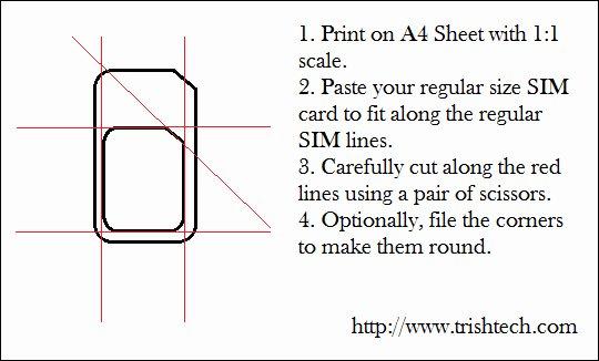 cut regular sim card into microsim size