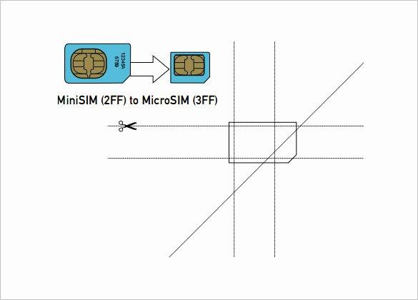 Micro Sim to Nano Sim Template Inspirational 6 Micro Sim Card Templates Psd Eps
