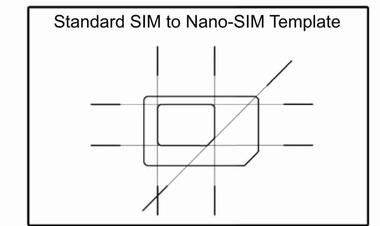 Micro Sim to Nano Sim Template Unique Sim Card Template