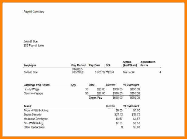 Microsoft Office Check Template Beautiful 7 Pay Stub Template Microsoft Office