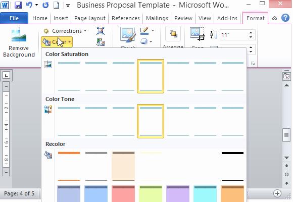 modern ui business proposal template word
