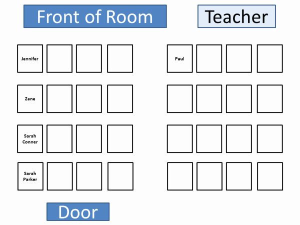 Microsoft Seating Chart Template Awesome Puter Lab Seating Chart Template