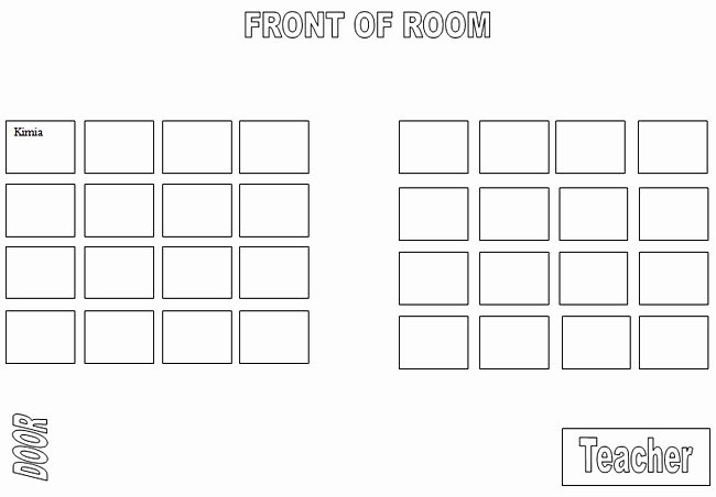 Microsoft Seating Chart Template Fresh Puter Lab Seating Chart Template