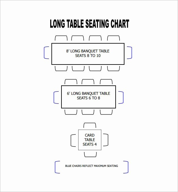 Microsoft Seating Chart Template Luxury Table Seating Chart Template – 14 Free Sample Example