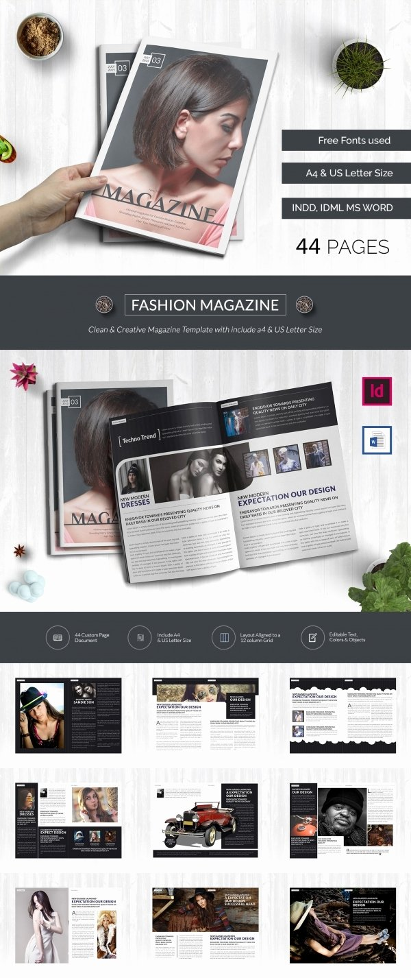 print magazine templates