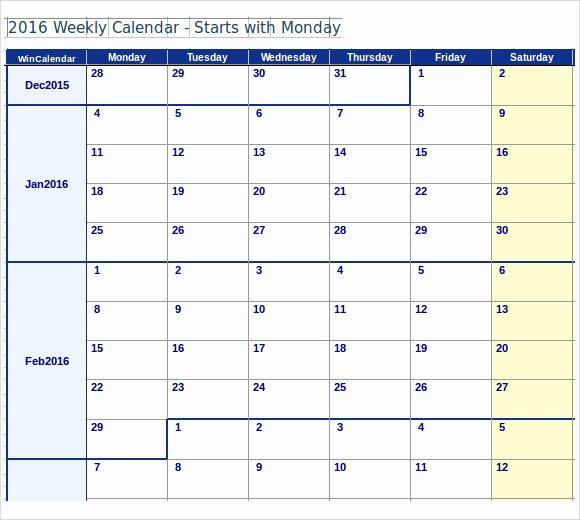 Microsoft Word Weekly Calendar Template Luxury Microsoft Word 2007 Monthly Calendar Template Free