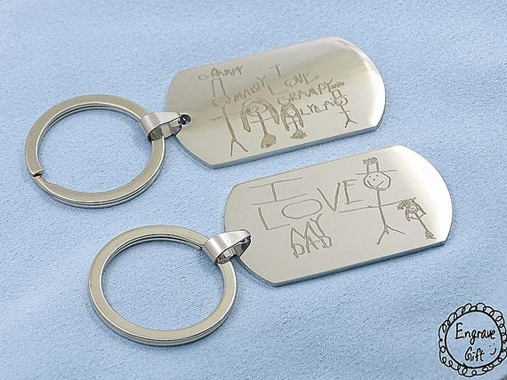Military Dog Tags Drawing Elegant My Kids Drawing Engrave On Stainless Steel Army Dog Tag Custom