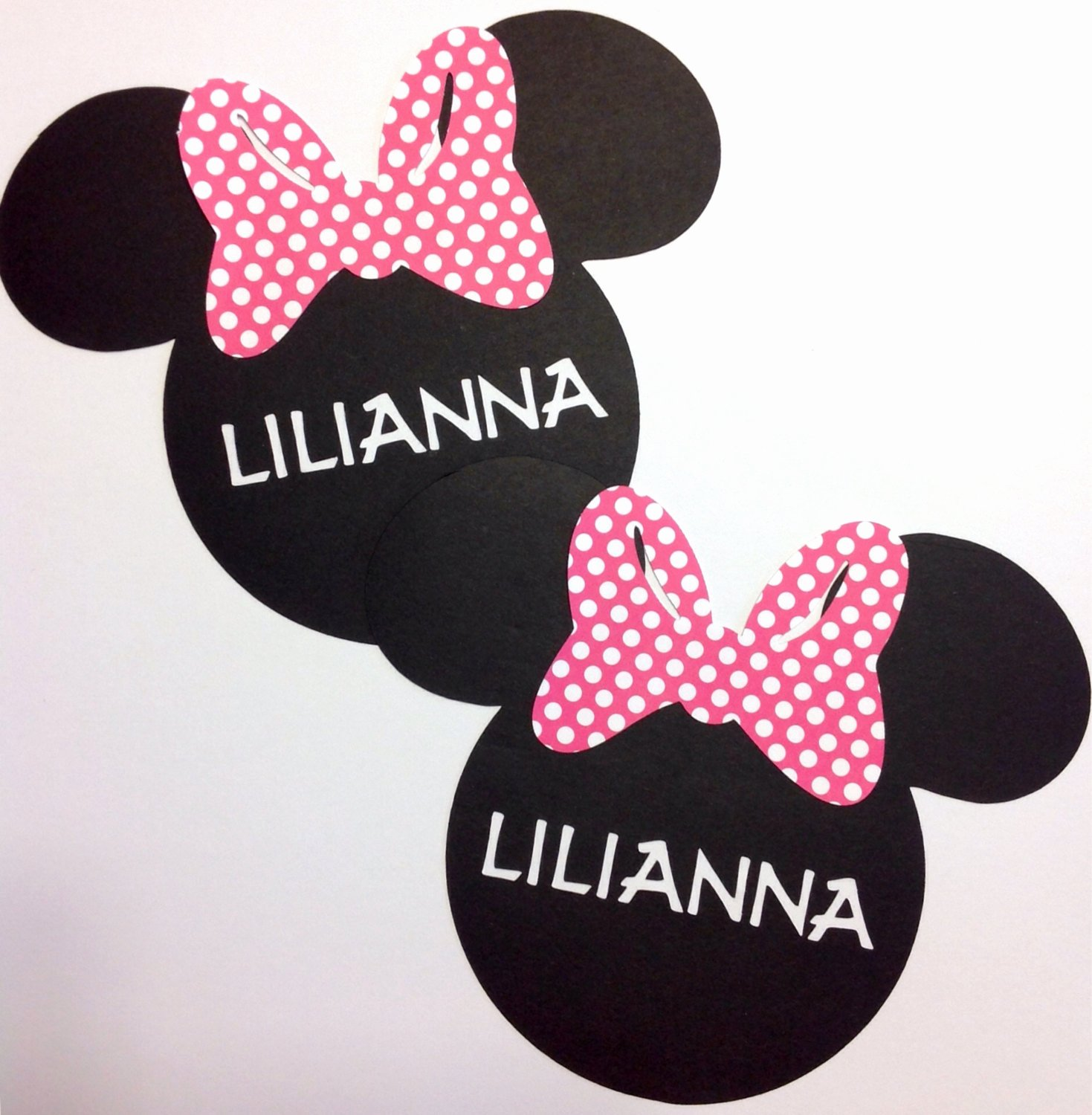 Minnie Mouse Cut Out Head Best Of Minnie Mouse Head Cut Outs Die Cut Customized with Name Set Of