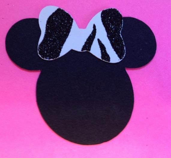 Minnie Mouse Cut Out Head Fresh 10 5 Minnie Mouse Head Silhouettes Card Stock Cutouts