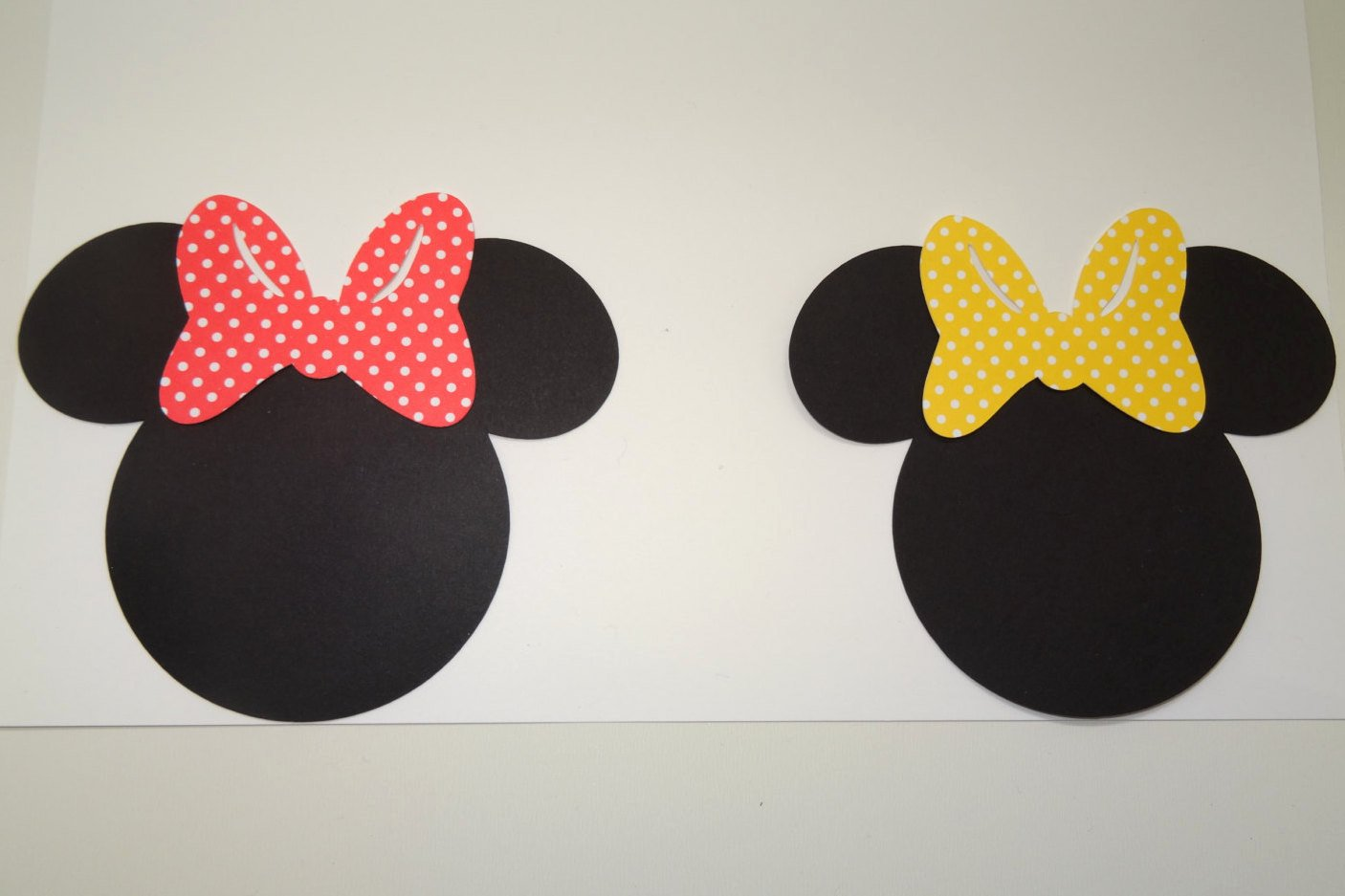 Minnie Mouse Cut Out Head Fresh 2 7 Minnie Mouse Head Cut Outs with Bows