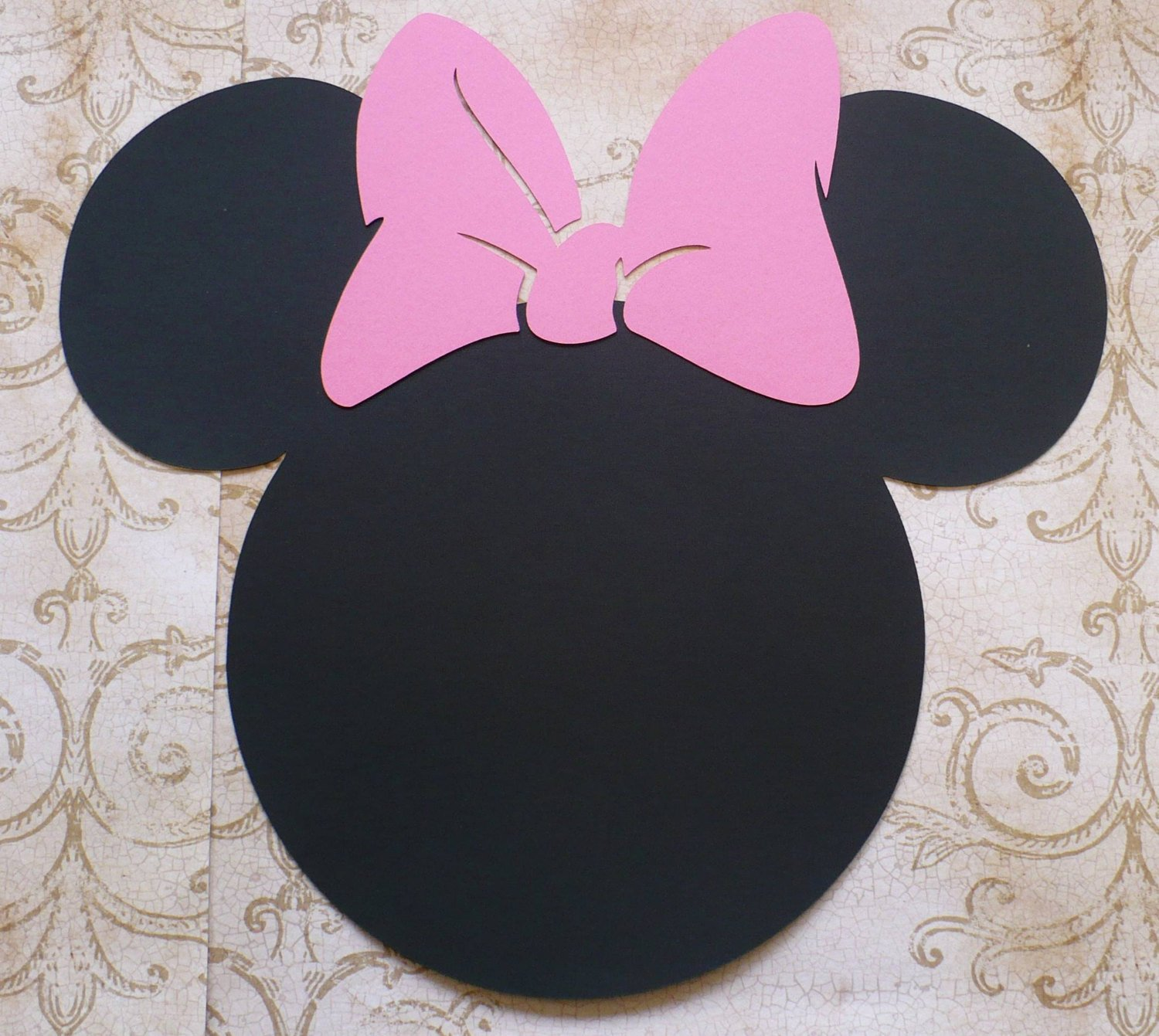 Minnie Mouse Cut Out Head Inspirational 2 Xl Minnie Mouse Head Shapes Medium Pink Bows Die Cut for