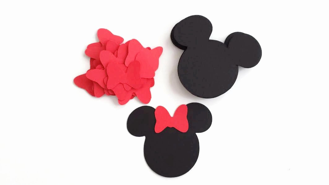 diy 24 cut small minnie mouse head