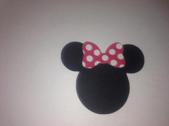 Minnie Mouse Cut Out Head Lovely 30 2 5 Minnie Mouse Head Silhouettes Die Cut by Leslisdesigns