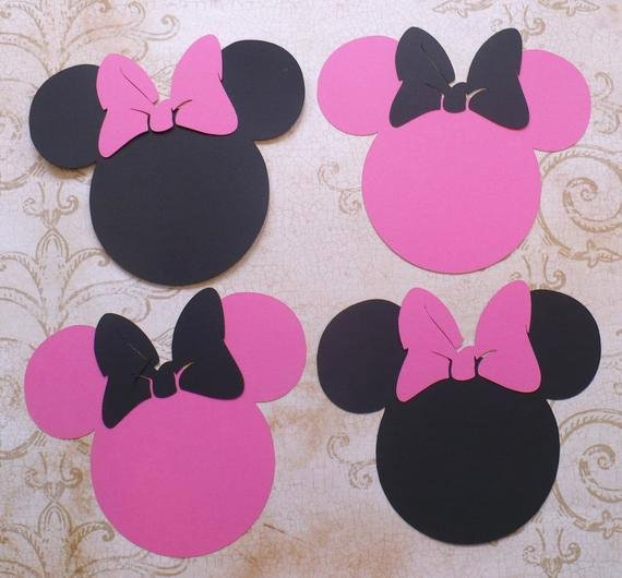 Minnie Mouse Cut Out Head Luxury Items Similar to 4 Minnie Mouse Head Shapes with Bows Hot