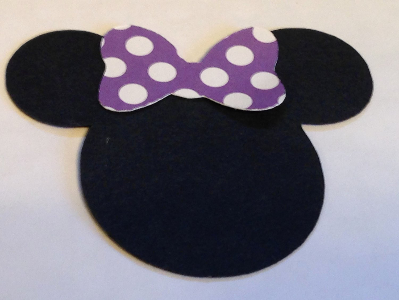 Minnie Mouse Cut Out Head New 30 2 5 Minnie Mouse Head Silhouettes Die Cut Black