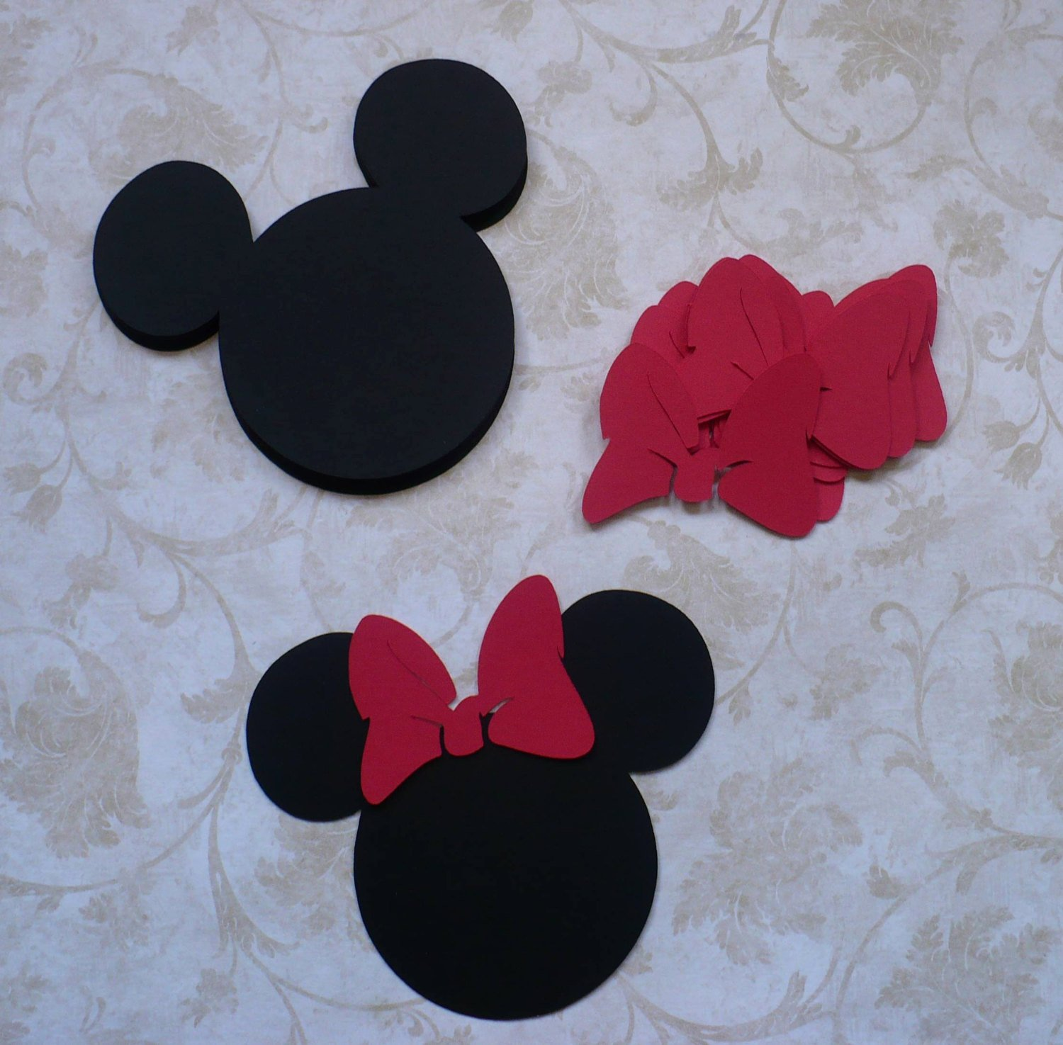 Minnie Mouse Cut Out Head Unique 12 Minnie Mouse Head Shapes Red Bow 3 5 Inch Die Cut Pieces