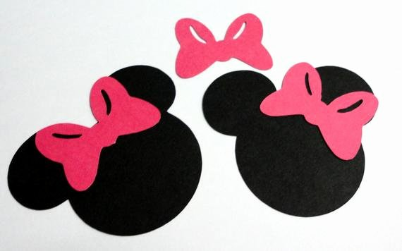 50 25 minnie mouse head silhouettes