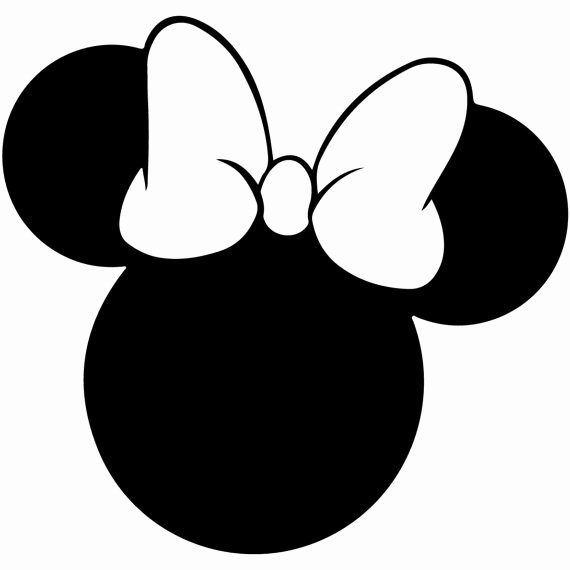 Minnie Mouse Ears Outline Beautiful Minnie Mouse Svg Outline Laptop Cup Decal Svg Digital Download