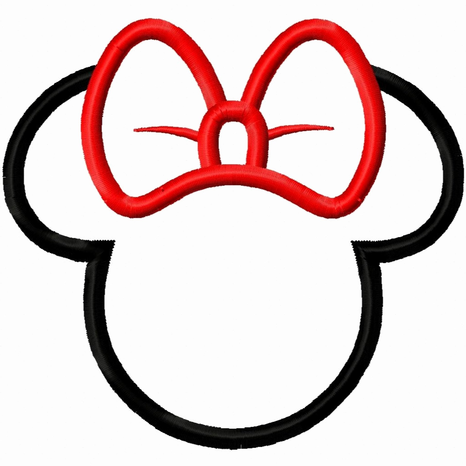 minnie mouse head templates