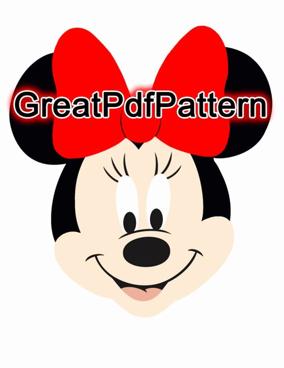 Minnie Mouse Template Pdf Beautiful Mickey and Minnie Mouse Pdf Pattern Felt Pattern Plush