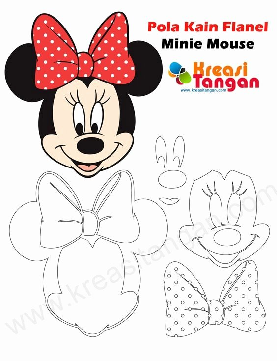 Minnie Mouse Template Pdf Beautiful Pola Kain Flanel Minnie Mouse Craft Ideas