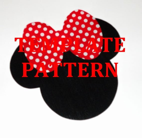 Minnie Mouse Template Pdf Best Of Applique Pdf Template Pattern Ly Big Bow Minnie