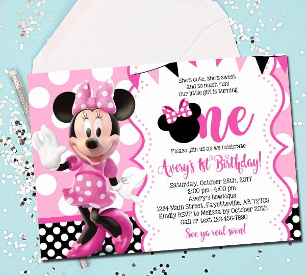 Minnie Mouse Template Pdf Lovely 15 Birthday Invitation Templates In Pdf