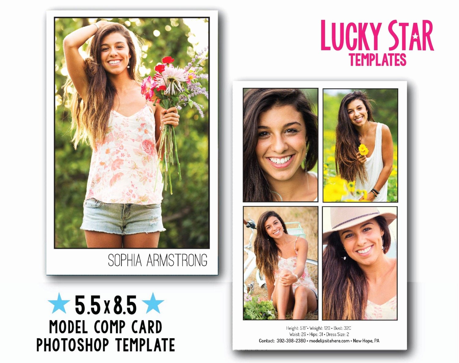 Model Comp Card Template Lovely Customizable Digital Model P Card Power Portraits
