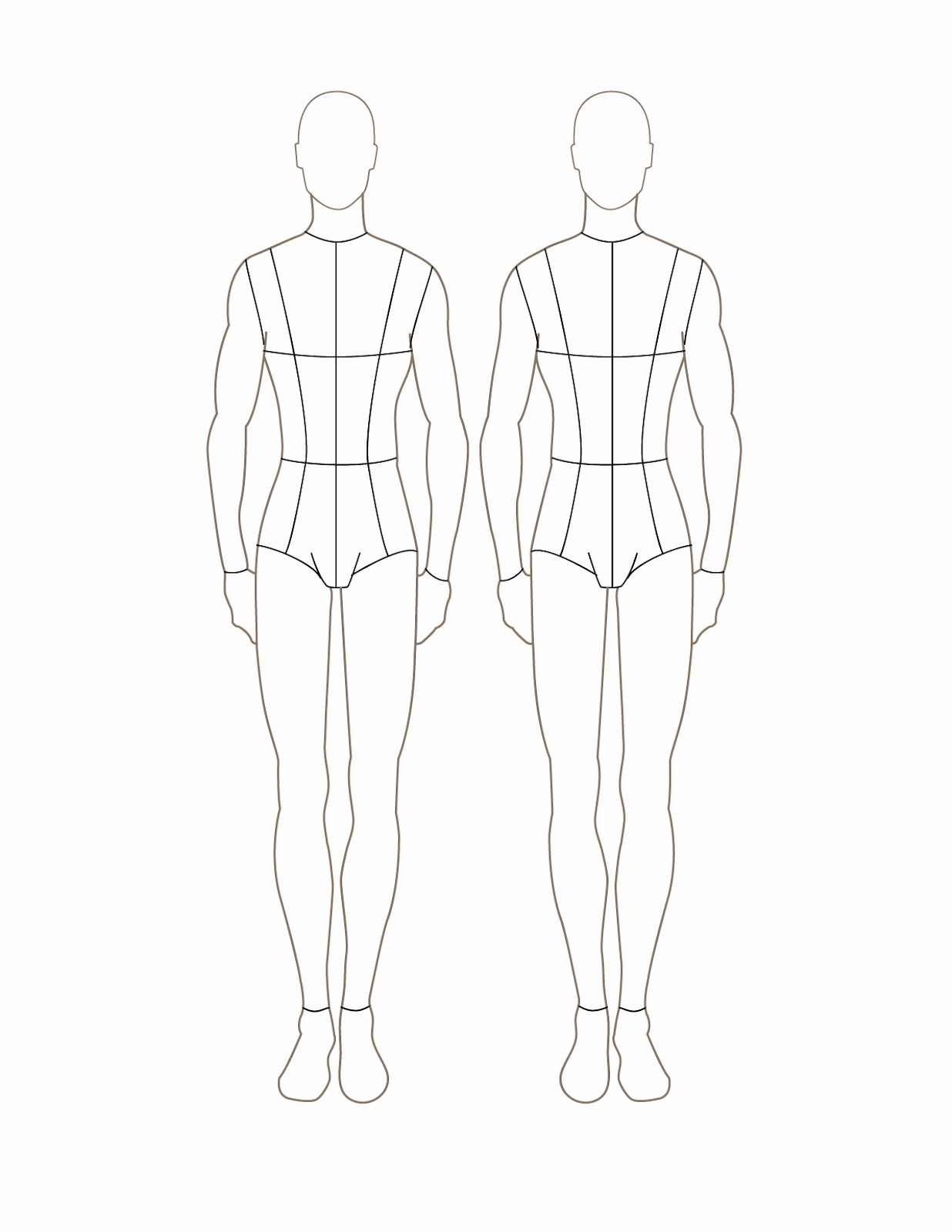 Model Sketch Template Lovely Fashion Design Sketch Model Male