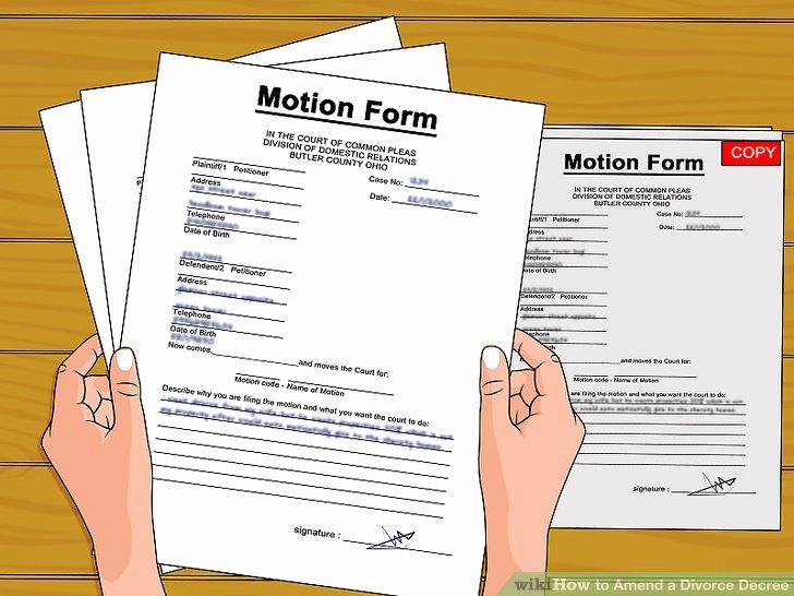 Amend a Divorce Decree