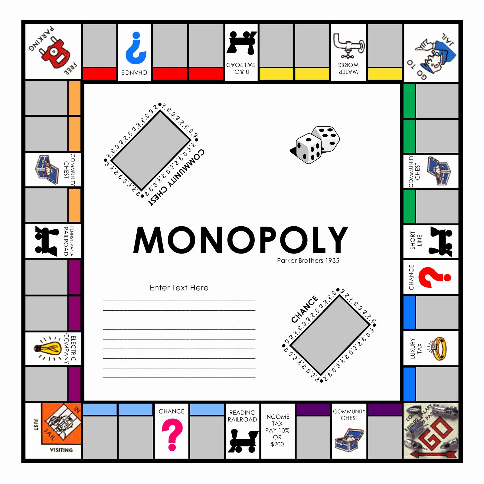 Monopoly Game Template New Free Monopoly Game Board Template the Best 10